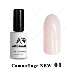 .001 - Akinami Color Gel Polish  Camouflage NEW, 9ml