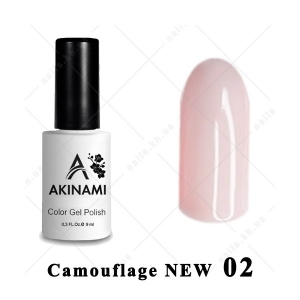 .002 - Akinami Color Gel Polish  Camouflage NEW, 9ml