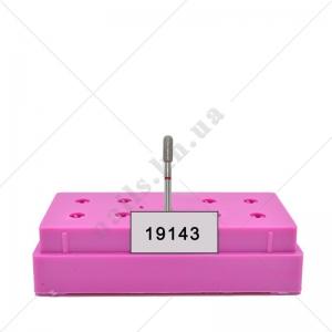 104 141 514 080 031 - Бор алмазный - цилиндр закругленный красный