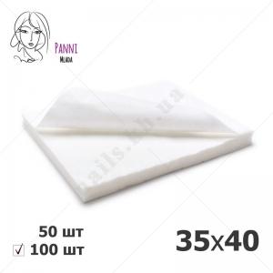 Panni Mlada полотенца 35*40 нарезанные, ГЛАДКИЕ белые, 100 шт/уп
