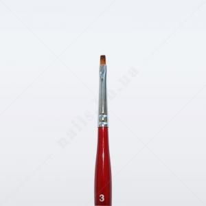 Кисть для геля синтетика под колонок DS23R № 3, прямая