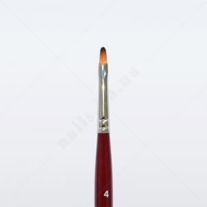 Кисть для геля синтетика под колонок DS33R № 4, овальная