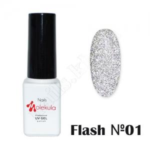 Molekula гель-лак светоотражающий Flash Effect F01, 6 ml