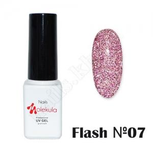 Molekula гель-лак светоотражающий Flash Effect F07, 6 ml