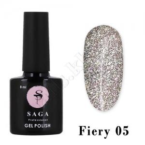 SAGA Гель-лак светоотражающий Fiery № 05, 8 мл