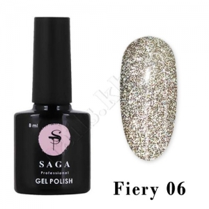 SAGA Гель-лак светоотражающий Fiery № 06, 8 мл