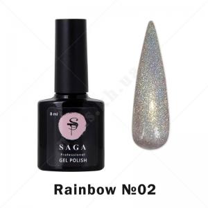 SAGA Rainbow №02 — Гель-лак голографический Prisma (Бежевый), 8 мл