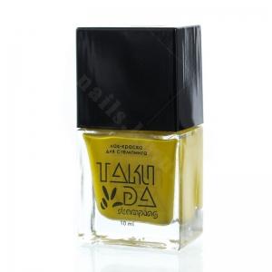008 TakiDa Лак-краска для стемпинга Желтая, 10 ml