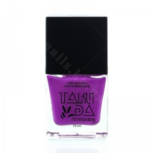 018 TakiDa Лак-краска для стемпинга Ярко Фиолетовый, 10 ml