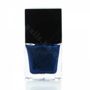 027 TakiDa Лак-краска для стемпинга Синий хамелеон перл хром, 10 ml
