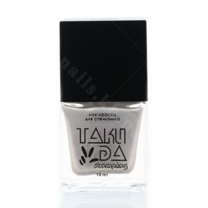 034 TakiDa Лак-краска для стемпинга Жемчужный перл хром, 10 ml