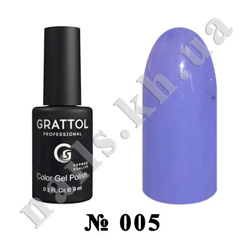 005 - Grattol Color Gel Polish  Cornflower, 9ml