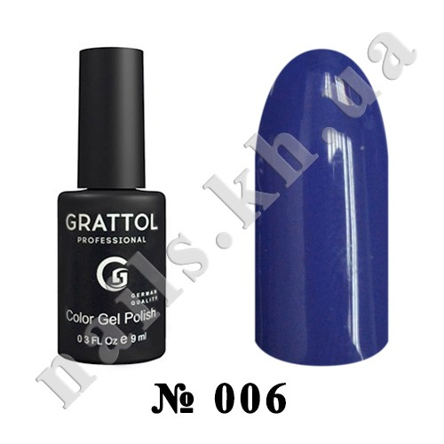 -006 - Grattol Color Gel Polish  Cobalt, 9ml