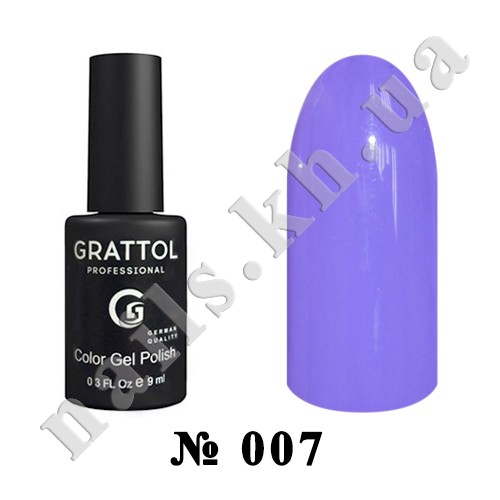 -007 - Grattol Color Gel Polish  Blue Violet, 9ml