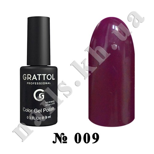 -009 - Grattol Color Gel Polish  Burgundy, 9ml