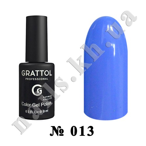 -013 - Grattol Color Gel Polish  Light Blue, 9ml