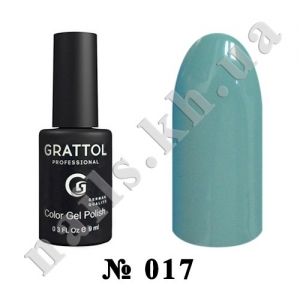 -017 - Grattol Color Gel Polish  White Blue, 9ml