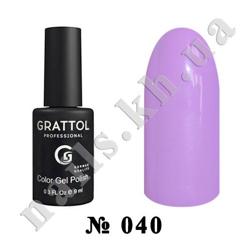 -040 - Grattol Color Gel Polish  Lavender, 9ml