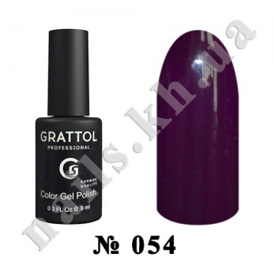 -054 - Grattol Color Gel Polish  Dark Purple, 9ml