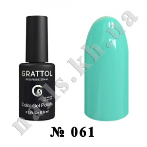 -061 - Grattol Color Gel Polish  Light Turquoise, 9ml