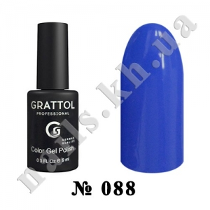 -088 - Grattol Color Gel Polish  Azure, 9ml