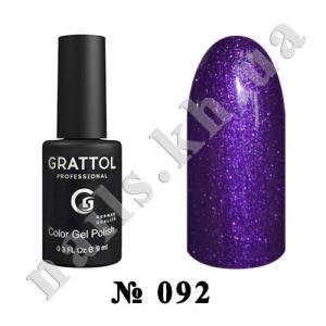 092 - Grattol Color Gel Polish  Shining Plum, 9ml