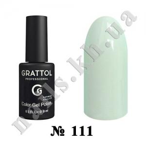 111 - Grattol Color Gel Polish  Pale Mint, 9ml