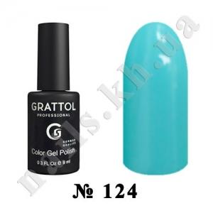 124 - Grattol Color Gel Polish  Aquamarine, 9ml
