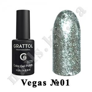 001 - Grattol Color Gel Polish  Vegas, 9 ml
