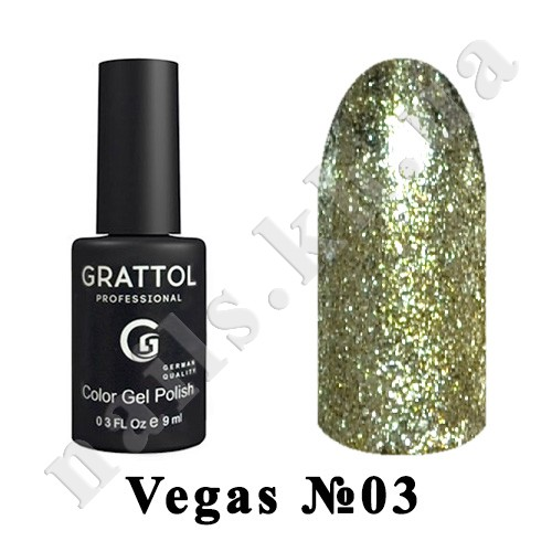 003 - Grattol Color Gel Polish  Vegas, 9 ml