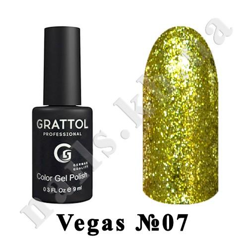 007 - Grattol Color Gel Polish  Vegas, 9 ml