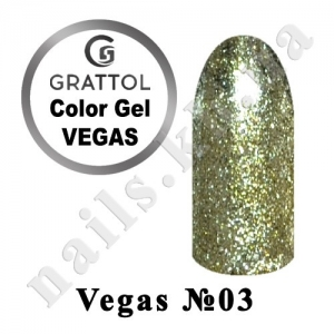 003 - Grattol гель краска в баночке  Vegas, 5 ml