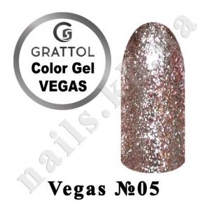 005 - Grattol гель краска в баночке  Vegas, 5 ml