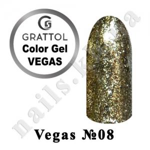 008 - Grattol гель краска в баночке  Vegas, 5 ml