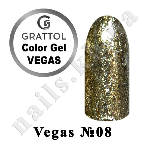 008 - Grattol Color Gel Polish  Vegas, 9 ml
