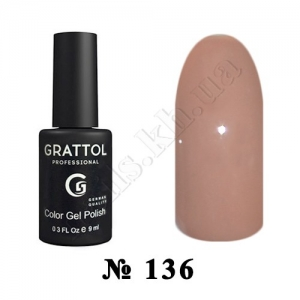 -136 - Grattol Color Gel Polish  Cappuccino, 9ml