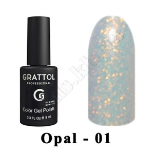 001 - Grattol Color Gel Polish OS  Opal, 9ml