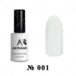 001 - Akinami Color Gel Polish - White, 9ml