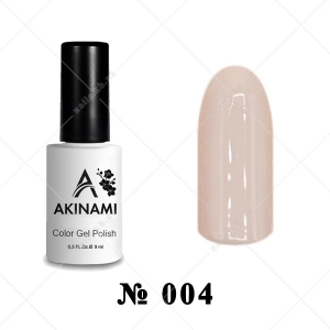 004 - Akinami Color Gel Polish - Pale Beige, 9 ml