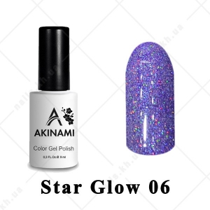 006 - Akinami Color Gel Polish  Star Glow, 9ml