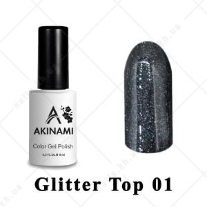 001 - Akinami Glitter Top Gel, 9ml