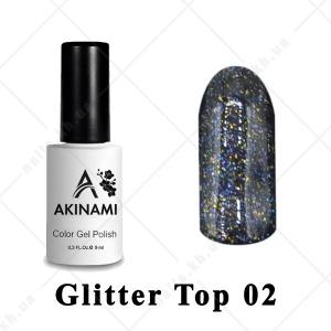 002 - Akinami Glitter Top Gel, 9ml