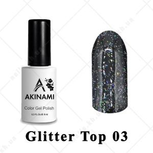 003 - Akinami Glitter Top Gel, 9ml