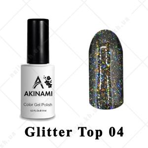 004 - Akinami Glitter Top Gel, 9ml