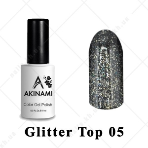 005 - Akinami Glitter Top Gel, 9ml