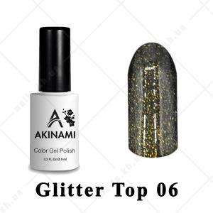 006 - Akinami Glitter Top Gel, 9ml