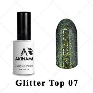 007 - Akinami Glitter Top Gel, 9ml