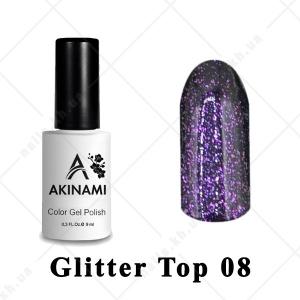 008 - Akinami Glitter Top Gel, 9ml