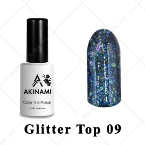 009 - Akinami Glitter Top Gel, 9ml