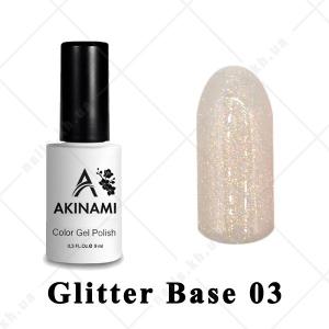 003 - Akinami Glitter Base Gel, 9ml